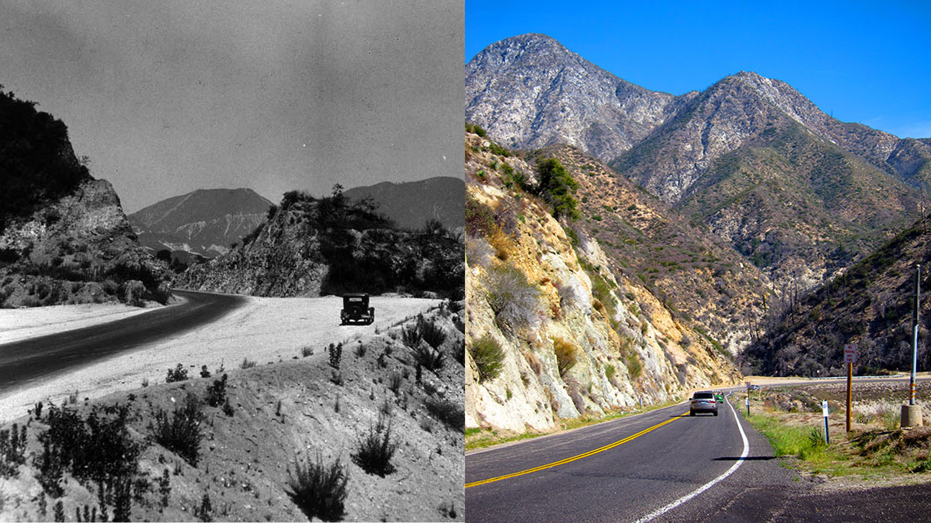 angeles crest highway in comparison