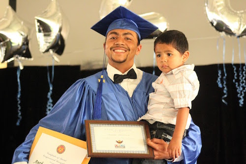 Anthony Monteroza, a South LA YouthBuild participant, obtained his high school diploma this year.