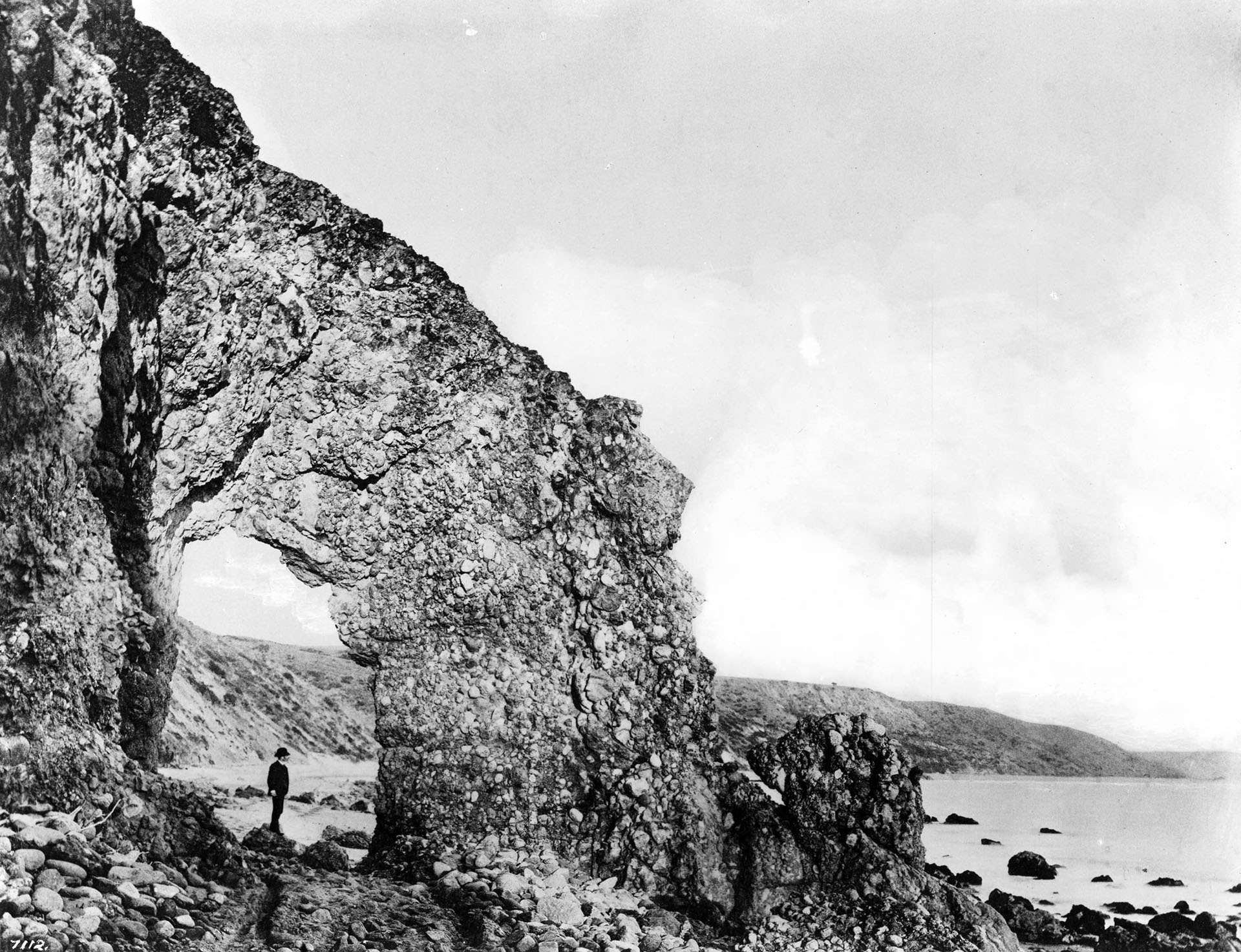 Arch Rock in Santa Monica, ca.1889