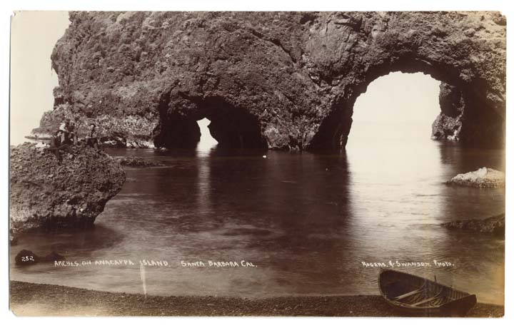 Anacapa's Arch Rock might be the island's most famous landform. Photo courtesy of the California State Library.