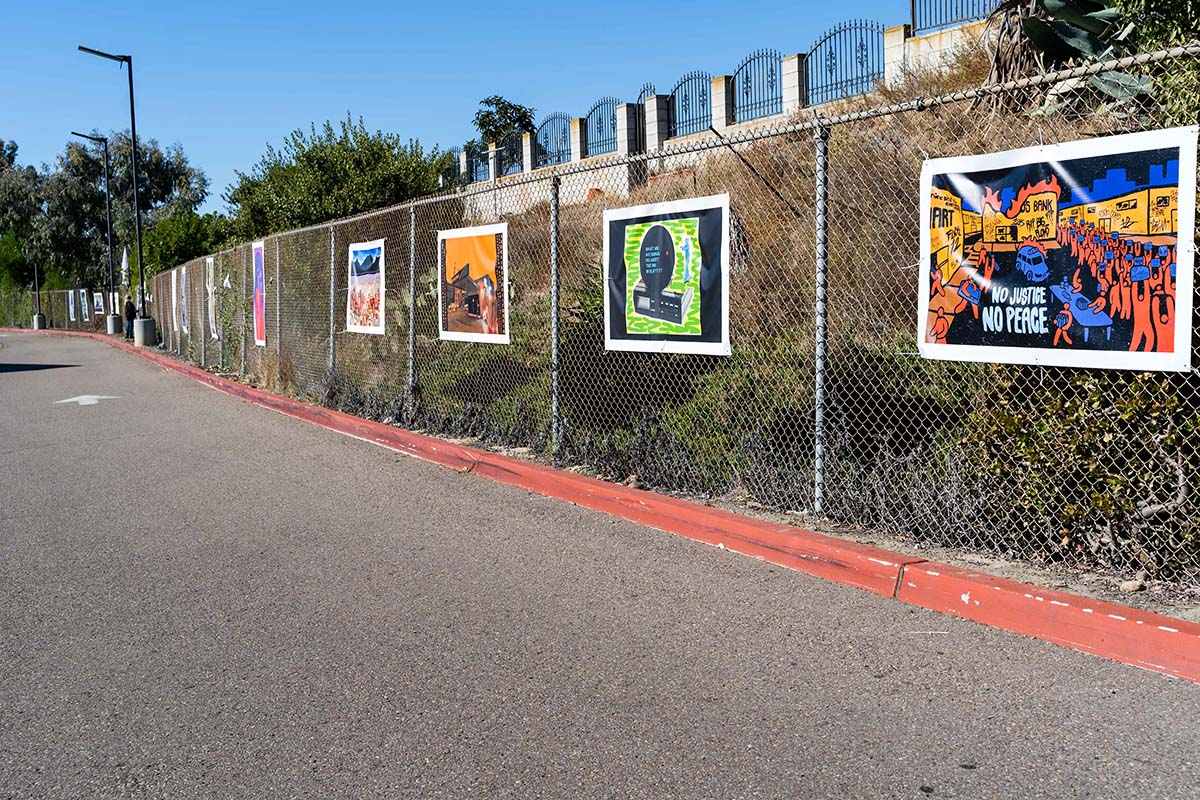 """Art on display at the """"Mesa College Drive-In: An Outdoor Art Exhibition""""   San Diego Mesa College"""