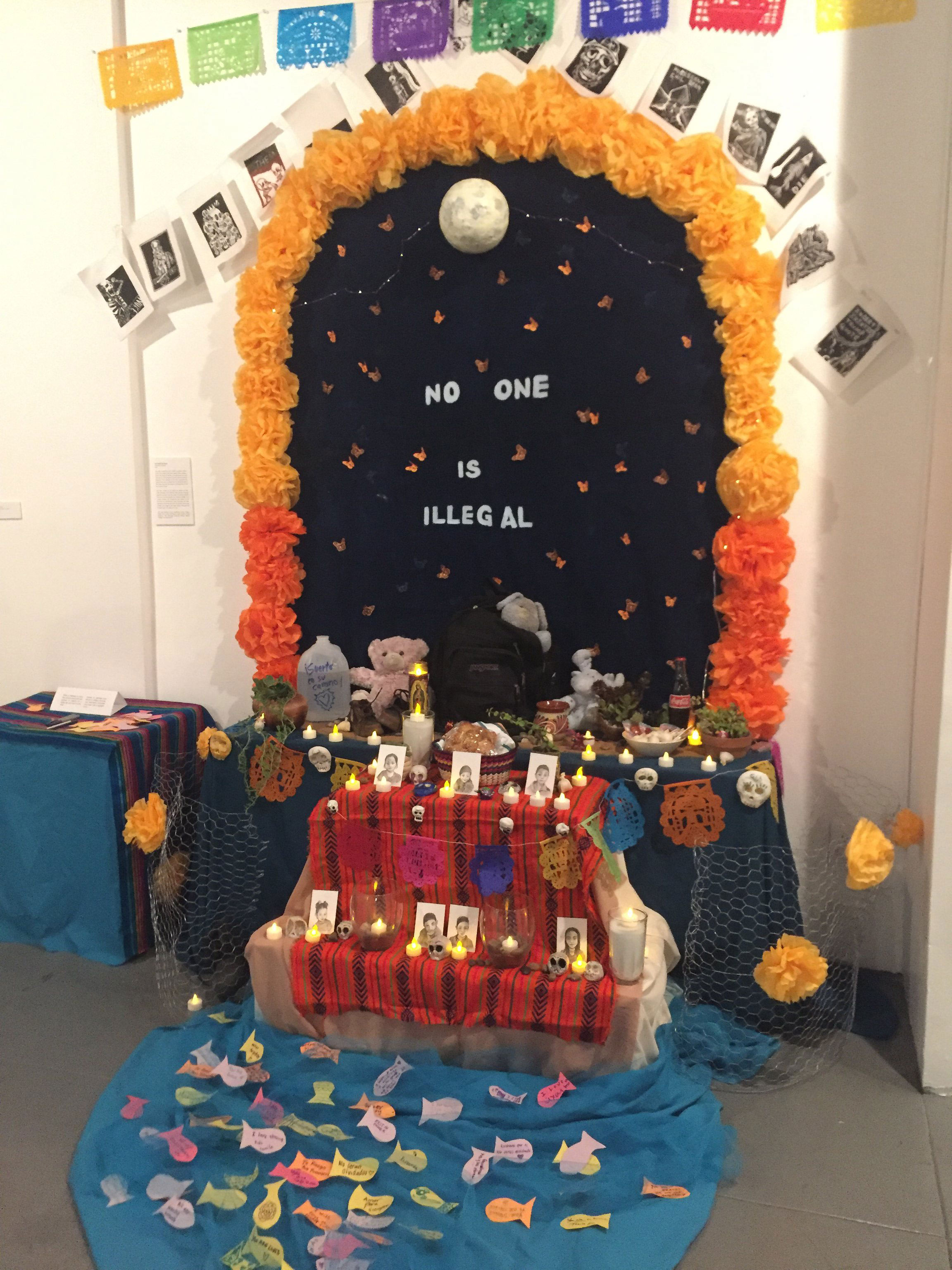 An ornately decorated alter celebrates Día de Los Muertos at Self Help Graphics on October 23, 2019.