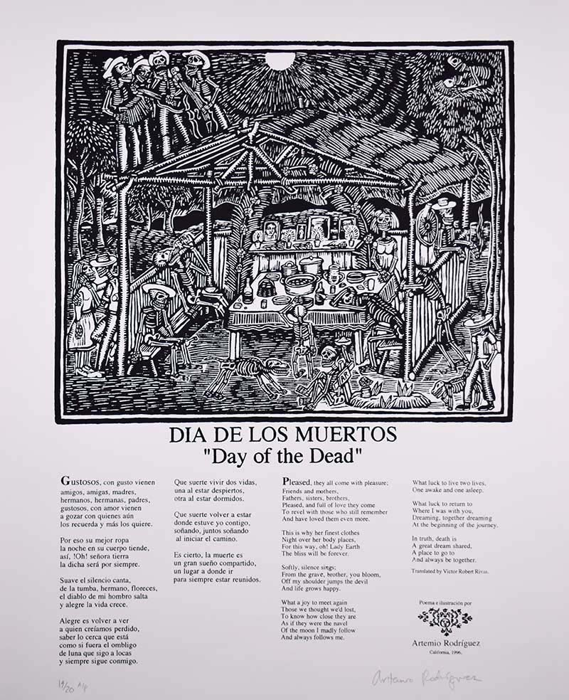"""Dia de Los Muertos"" by Artemio Rodriguez (1996 Commemorative Dia de Los Muertos Print) 