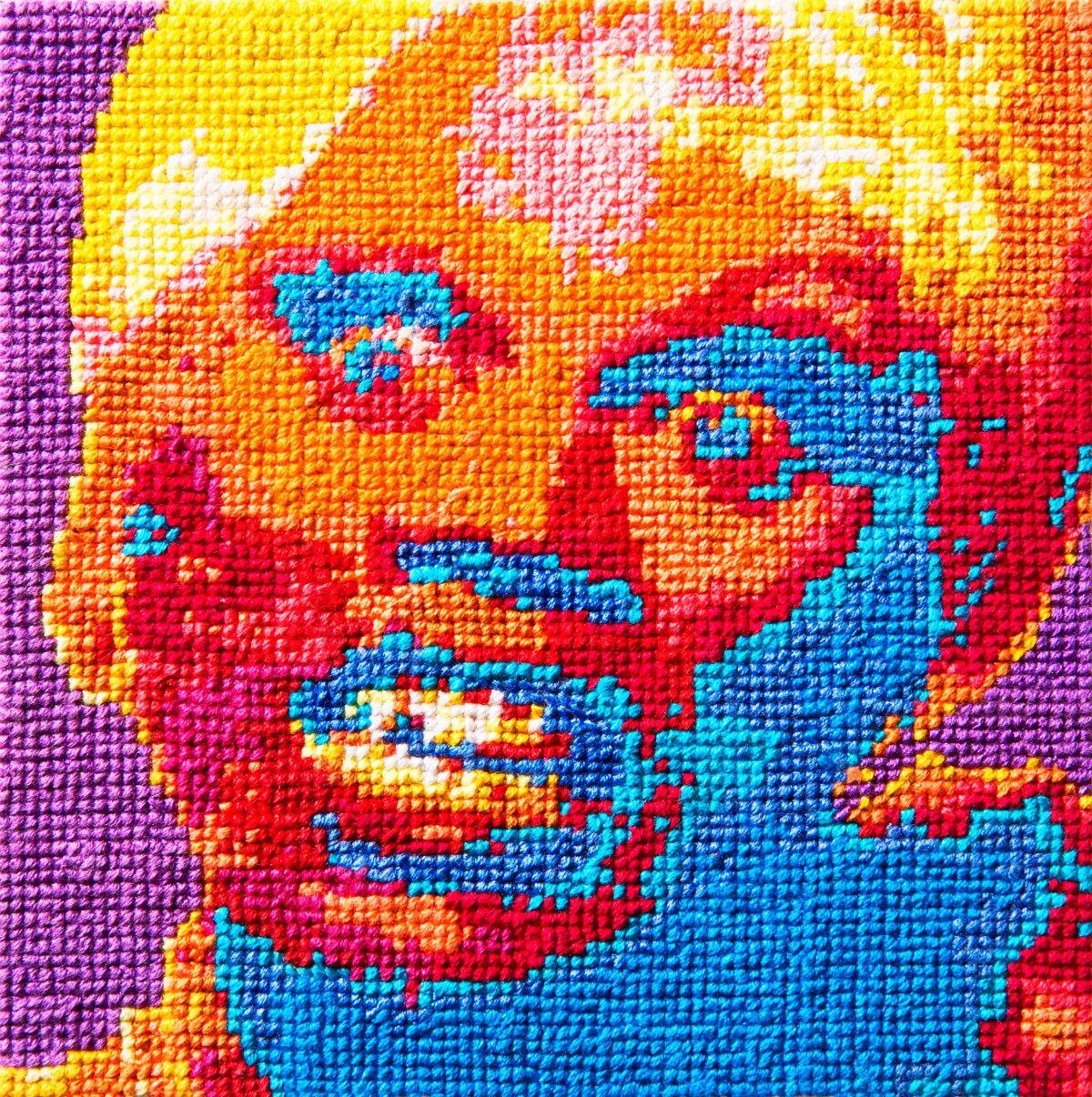 """Aubrey Longley-Cook's """"RuPaul Cross-Stitch Animation Frame 27"""" 