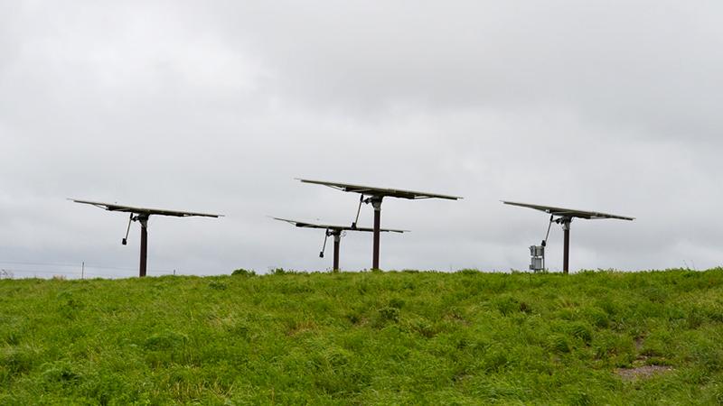 These solar panels on the Audubon National Wildlife Refuge might be a significant percentage of North Dakota's total solar capacity. | Photo; USFWS