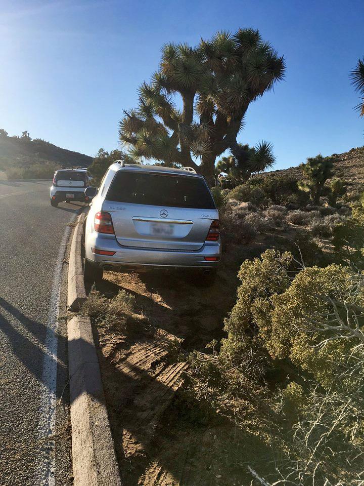 Bad parking job at Joshua Tree