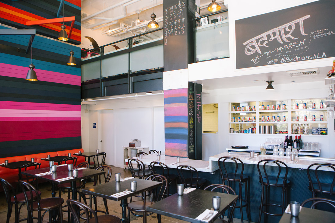 Vividly colored interior of Badmaash