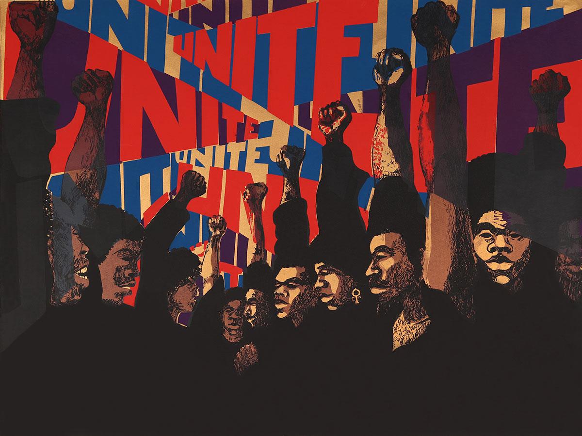 Barbara Jones-Hogu, Unite (First State),1971. Screenprint. | Barbara Jones-Hogu