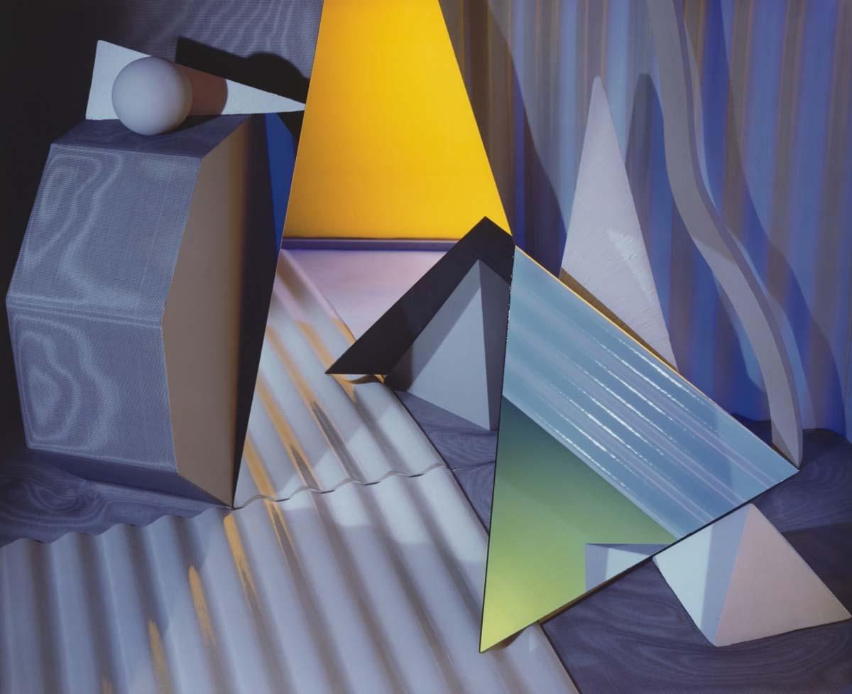 Barbara Kasten, Construct NYC 17. 1984 Cibachrome print | Courtesy of Scott Nichols Gallery