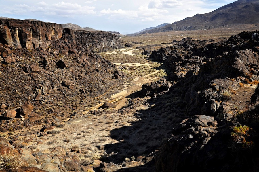 Basalt Flow from Atop Fossil Falls - Fossil Falls, CA - 2015