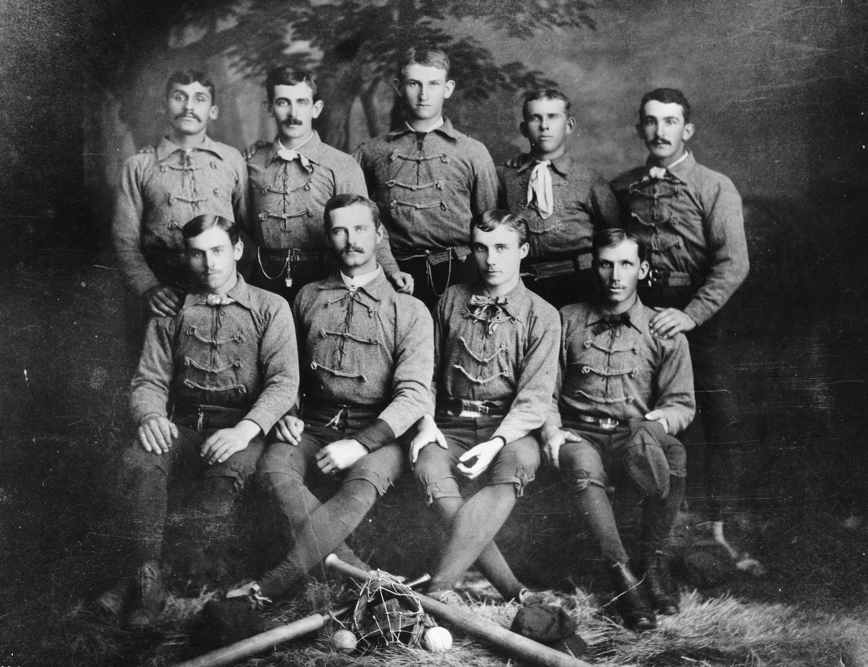 The Los Angeles Baseball Club, circa 1884. Courtesy of the USC Libraries - California Historical Society Collection