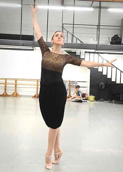 Melissa Barak at her rehearsal | Ed Krieger
