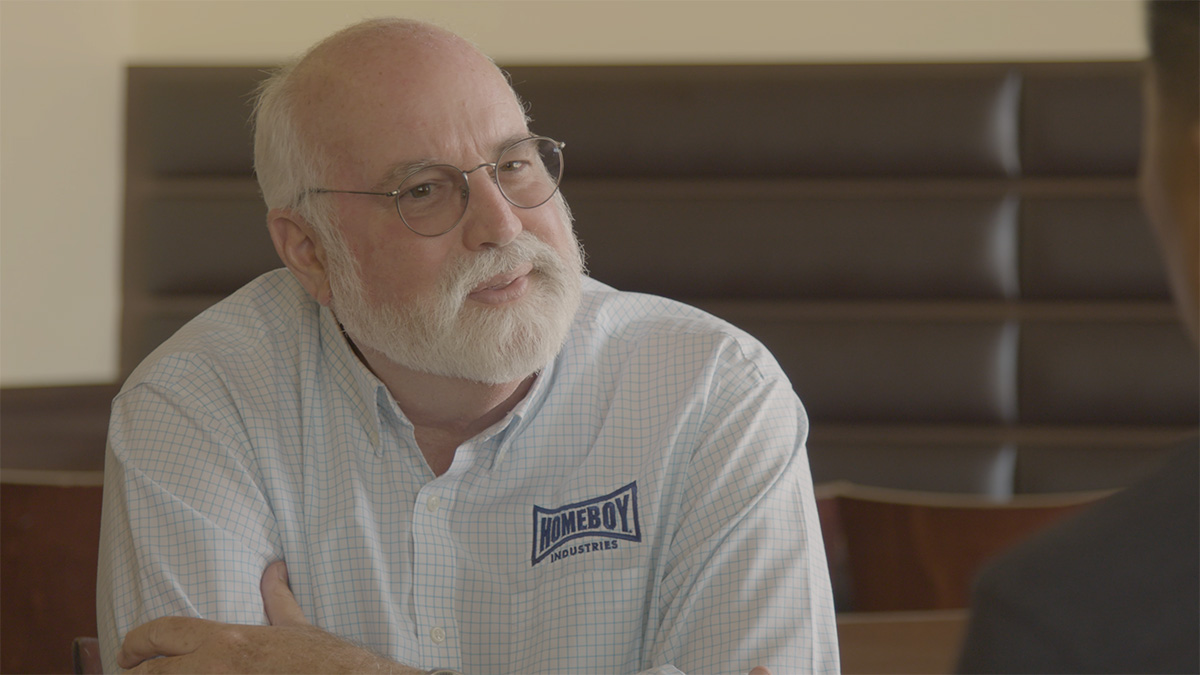 "Fr. Greg Boyle of Homeboy Industries | Still from ""Broken Bread"""