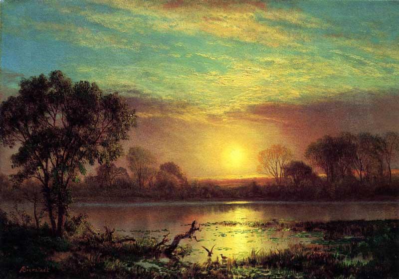 Evening in the Owens Valley, California | Image: Albert Bierstadt