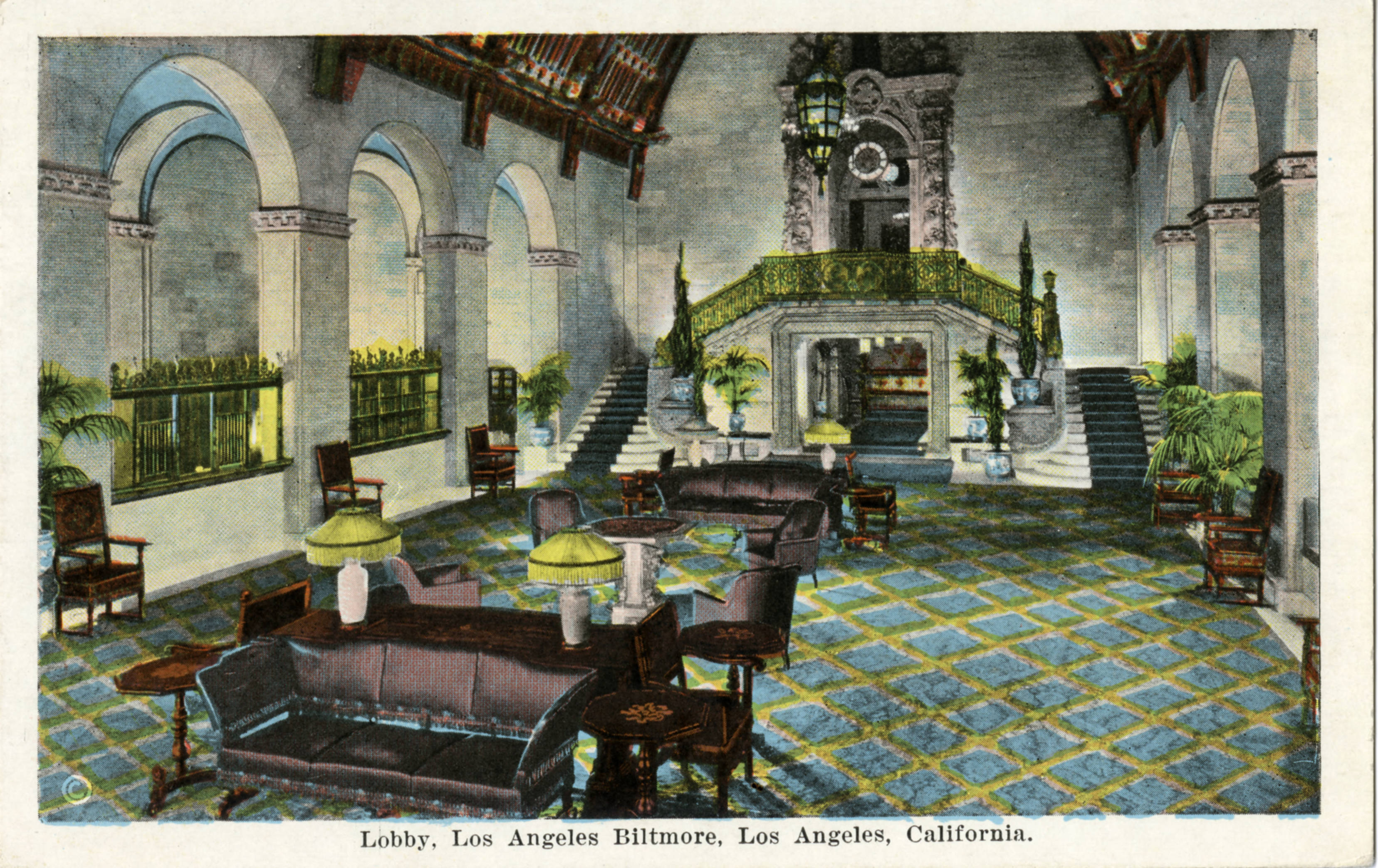 Lobby, Los Angeles Biltmore, Los Angeles, California