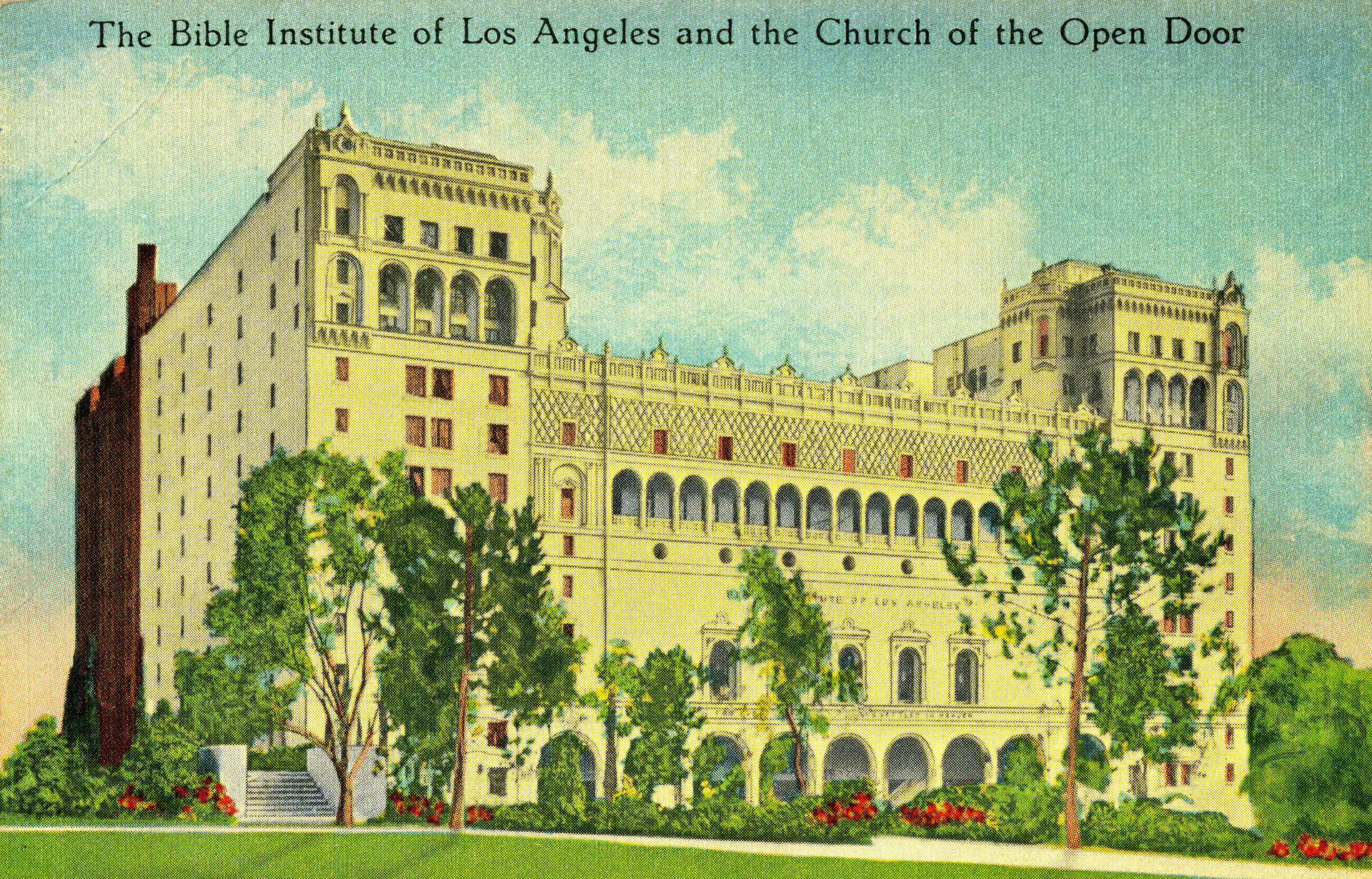 Bible Institute of Los Angeles (Biola) postcard