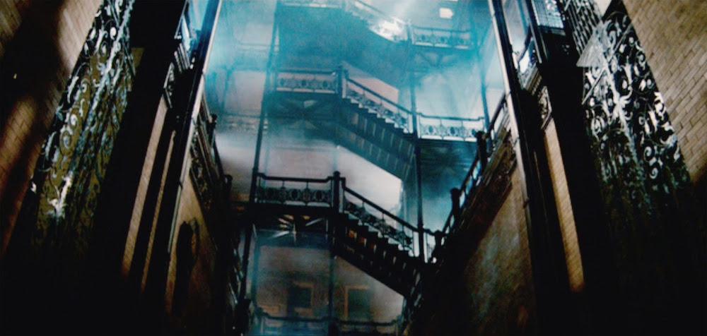 "The Bradbury Building as seen in the 1982 film ""Blade Runner."""