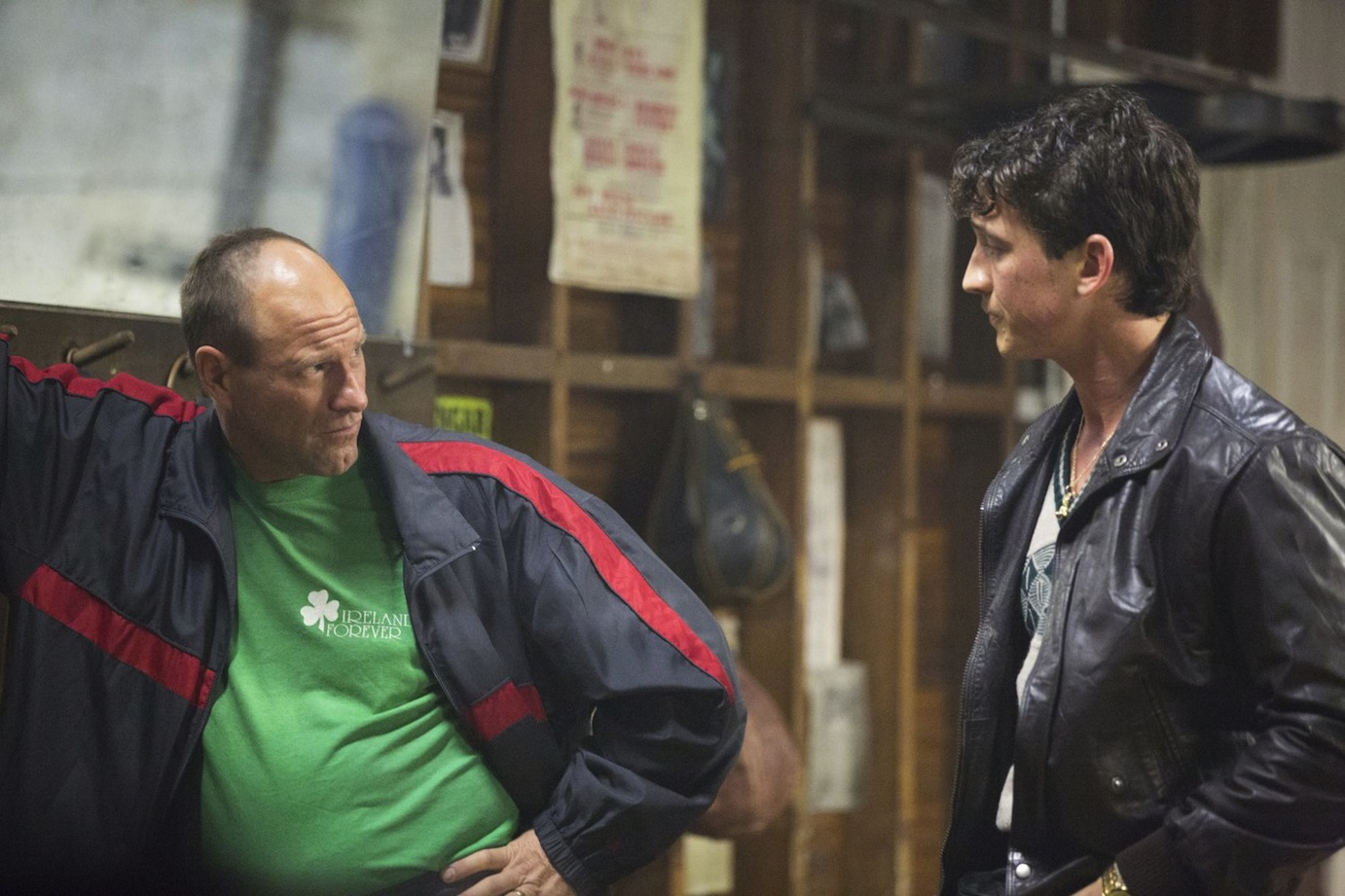 "Aaron Eckhart and Miles Teller in ""Bleed for This"""
