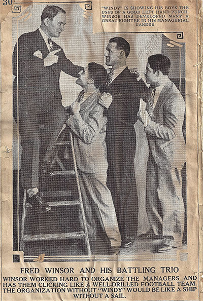 News clipping with Bobby Herman