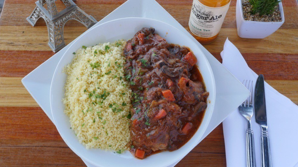 Beef bourguignon and couscous | Courtesy Got Kosher?