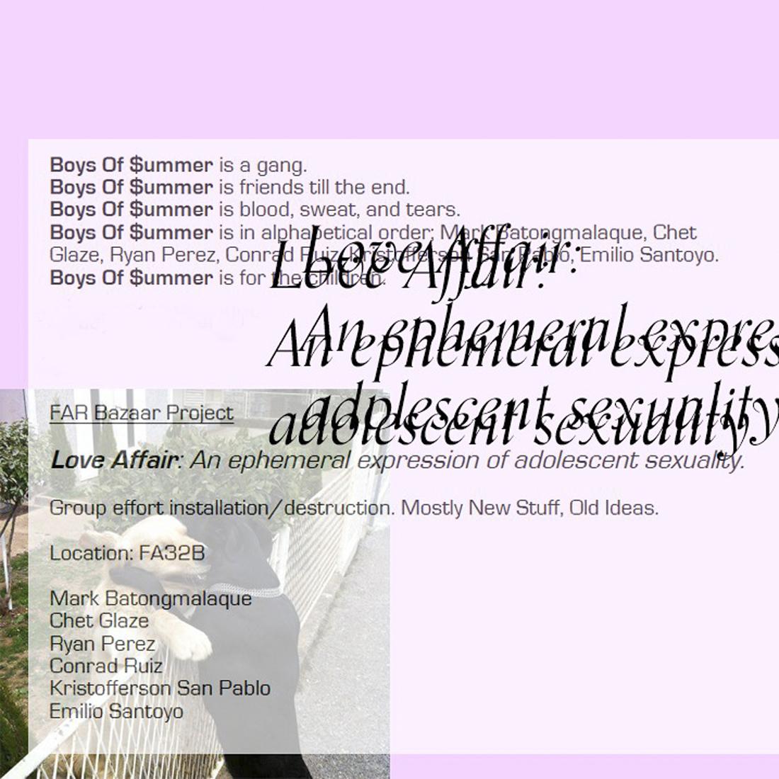 Love Affair Show Card | Boys of Summer
