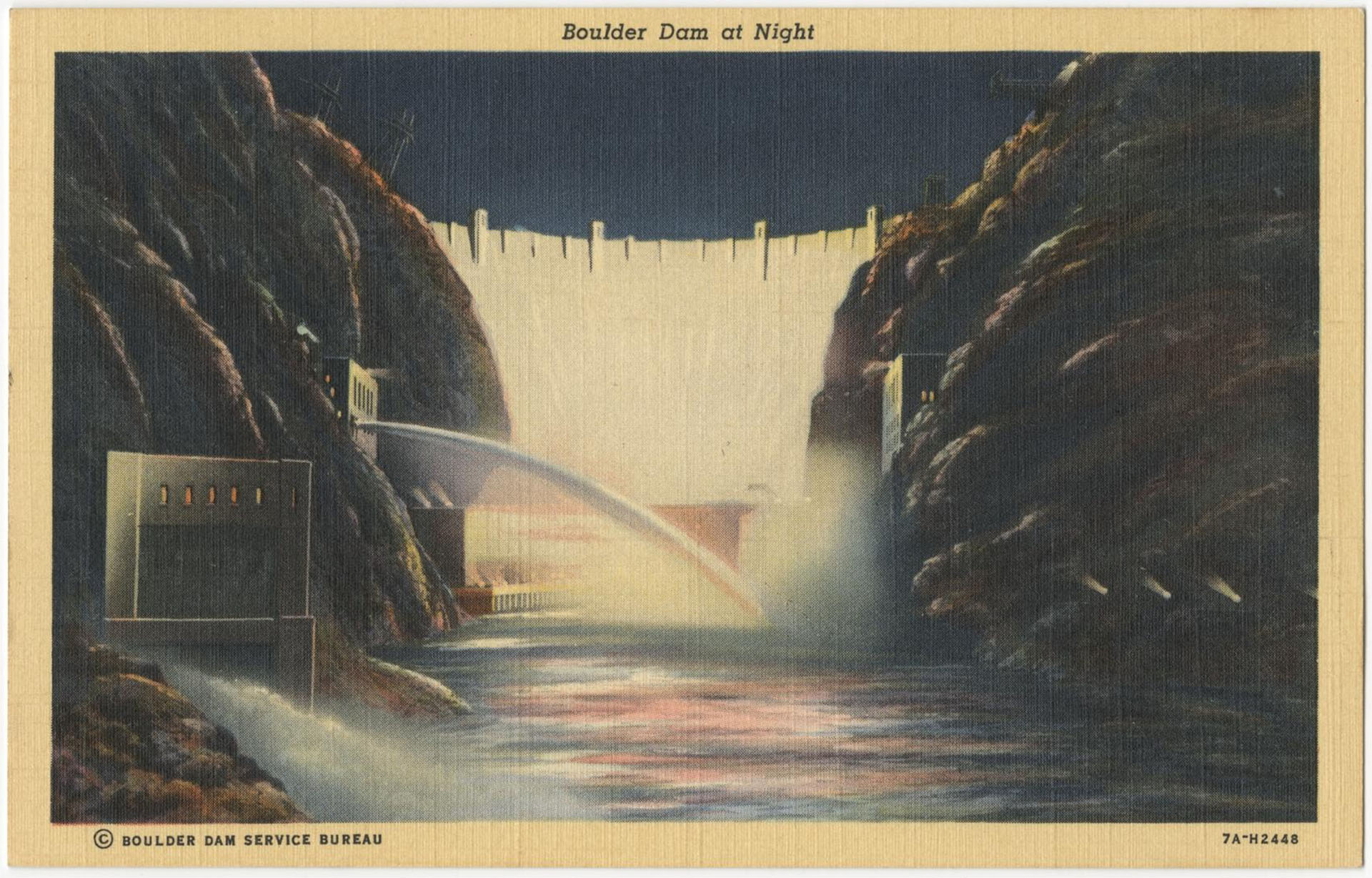 Boulder Dam at Night