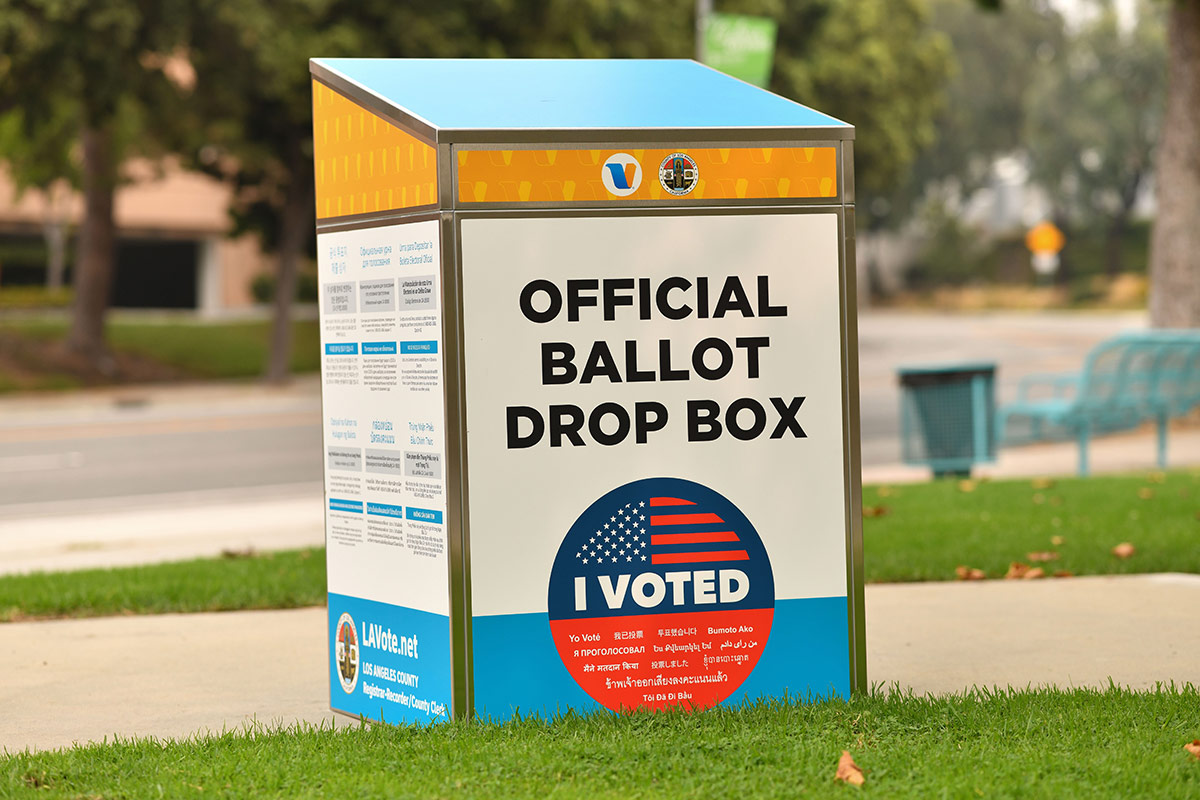 L A County Democrats Outline Voting Options Urge People To Cast Ballot Early Kcet