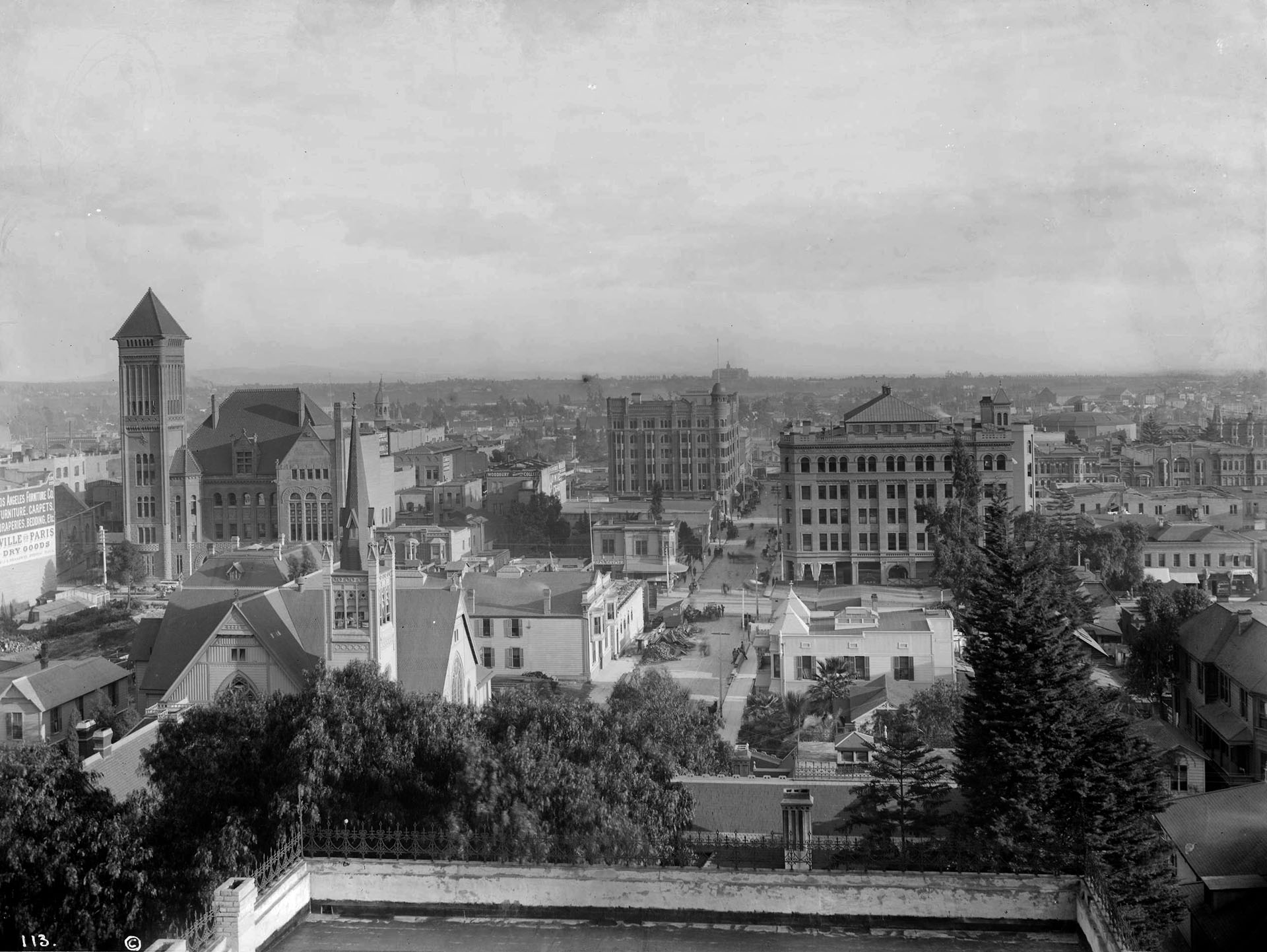 Circa 1894 View Of Los Angeles And The Bradbury Block At Broadway 3rd