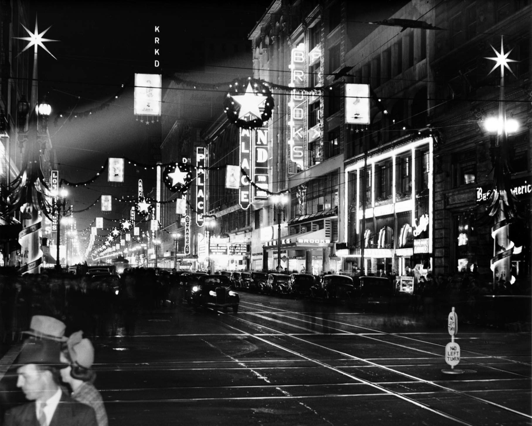 Broadway Decorated for Christmas