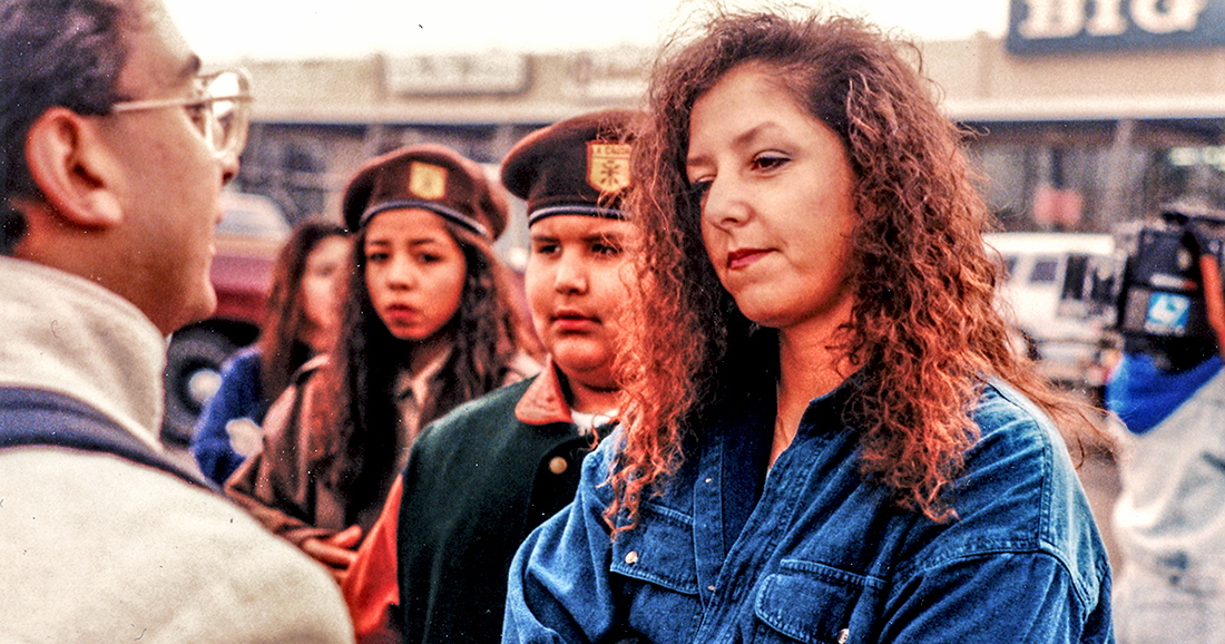 Brown Beret protesters in 1994. | David Prasad/Flickr/Creative Commons