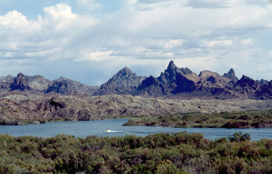 Arriving at the Colorado River, a view of the Needles peaks came into view. | Shirley Burman