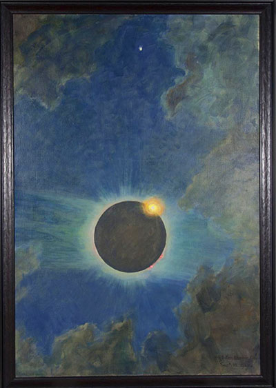 Howard Russell Butler California Solar Eclipse, 1923 Oil on Canvas 49 x 33-1/2 inches | Collection of The Buffalo Museum of Science, Buffalo, NY