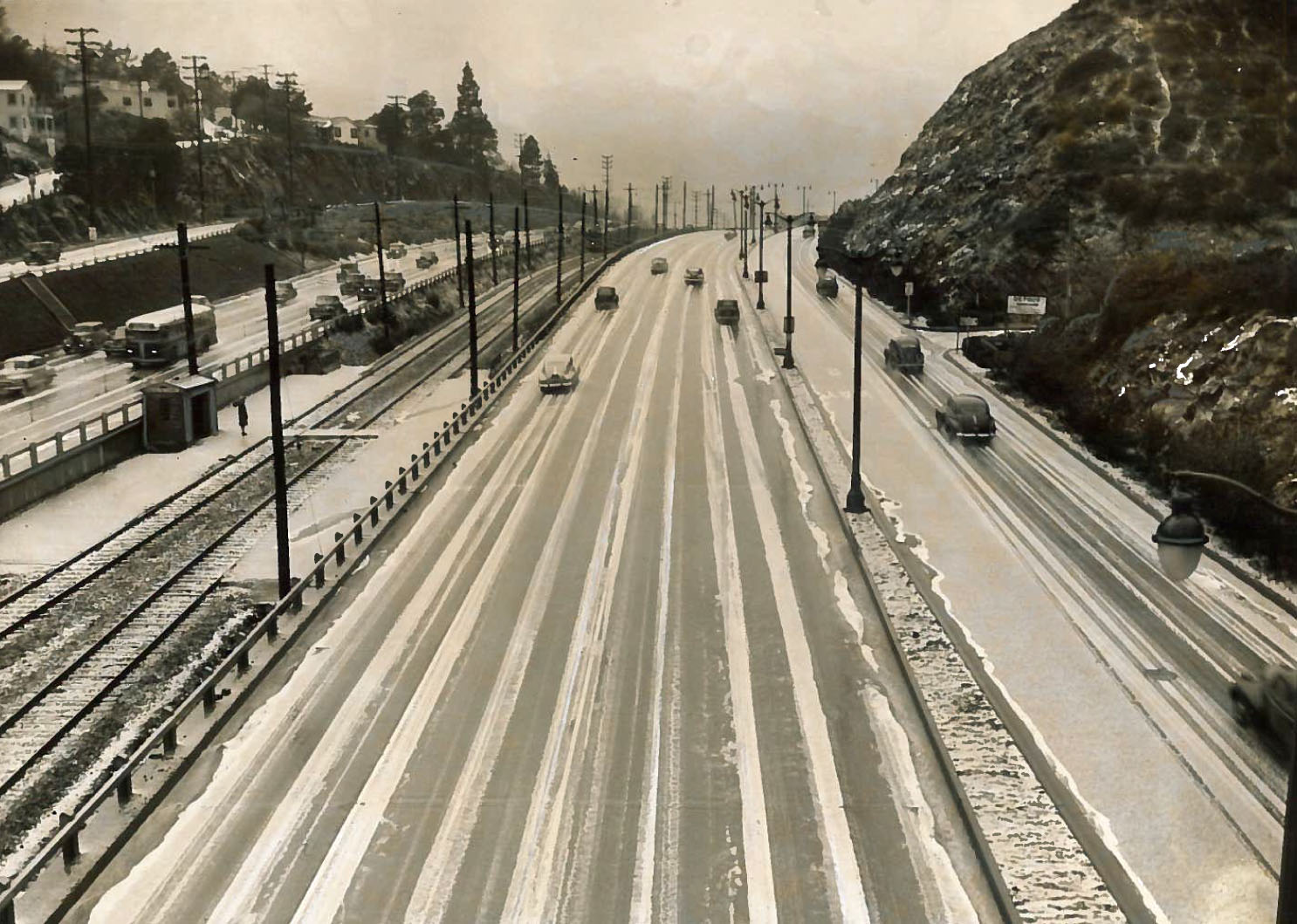 Snow on the Cahuenga Pass, February 7, 1948