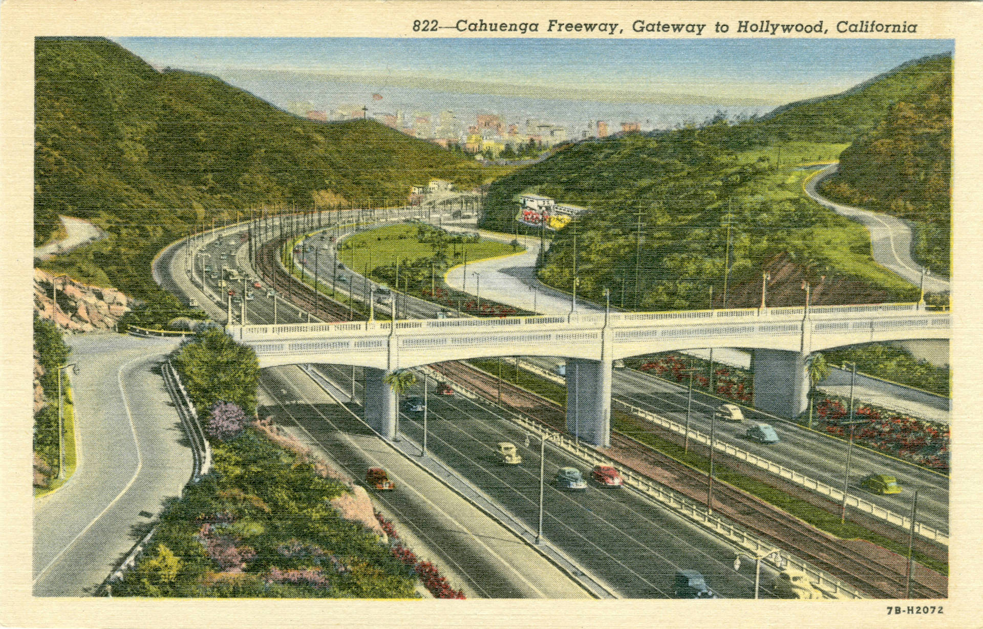 Cahuenga Freeway, Gateway to Hollywood, California