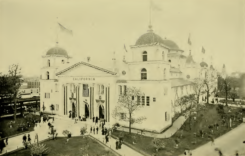 The California building at the 1893 Chicago World's Columbian Exposition