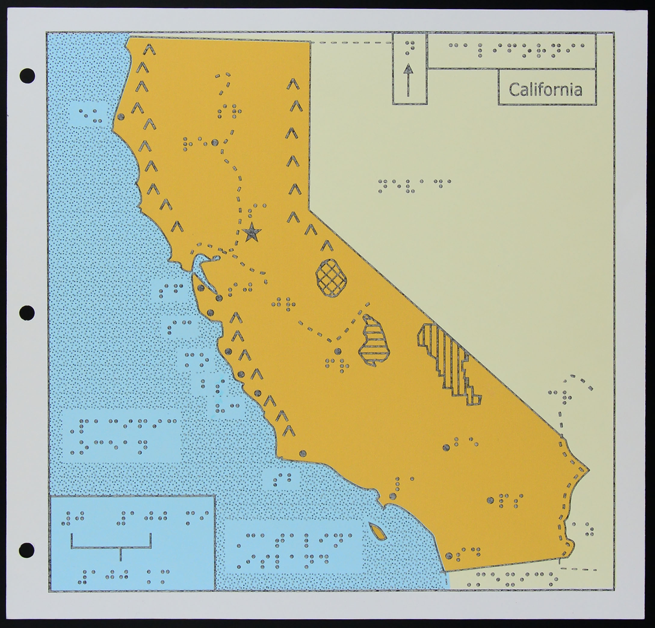 A Map Of California For The Blind KCET - Calfornia map