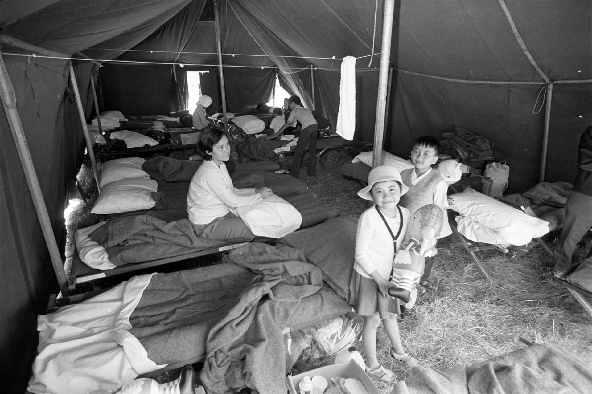 Vietnamese refugees at Camp Pendleton, 1975