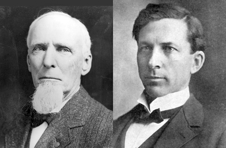 1911 mayoral candidates George Alexander (left) and Job Harriman (right)