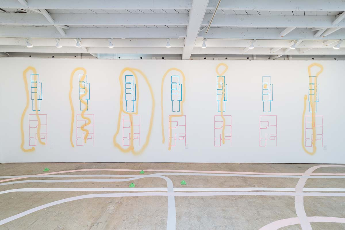 """Carmen Argote, """"If it were only that easy...,"""" 2018. Installation view at 18th Street Arts Center. January 16 - March 23, 2018. 