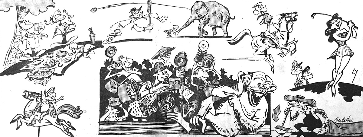 """Mr. and Mrs. Los Angeles, their children and their relatives, move en masse in mammoth Griffith Park on week ends."" 