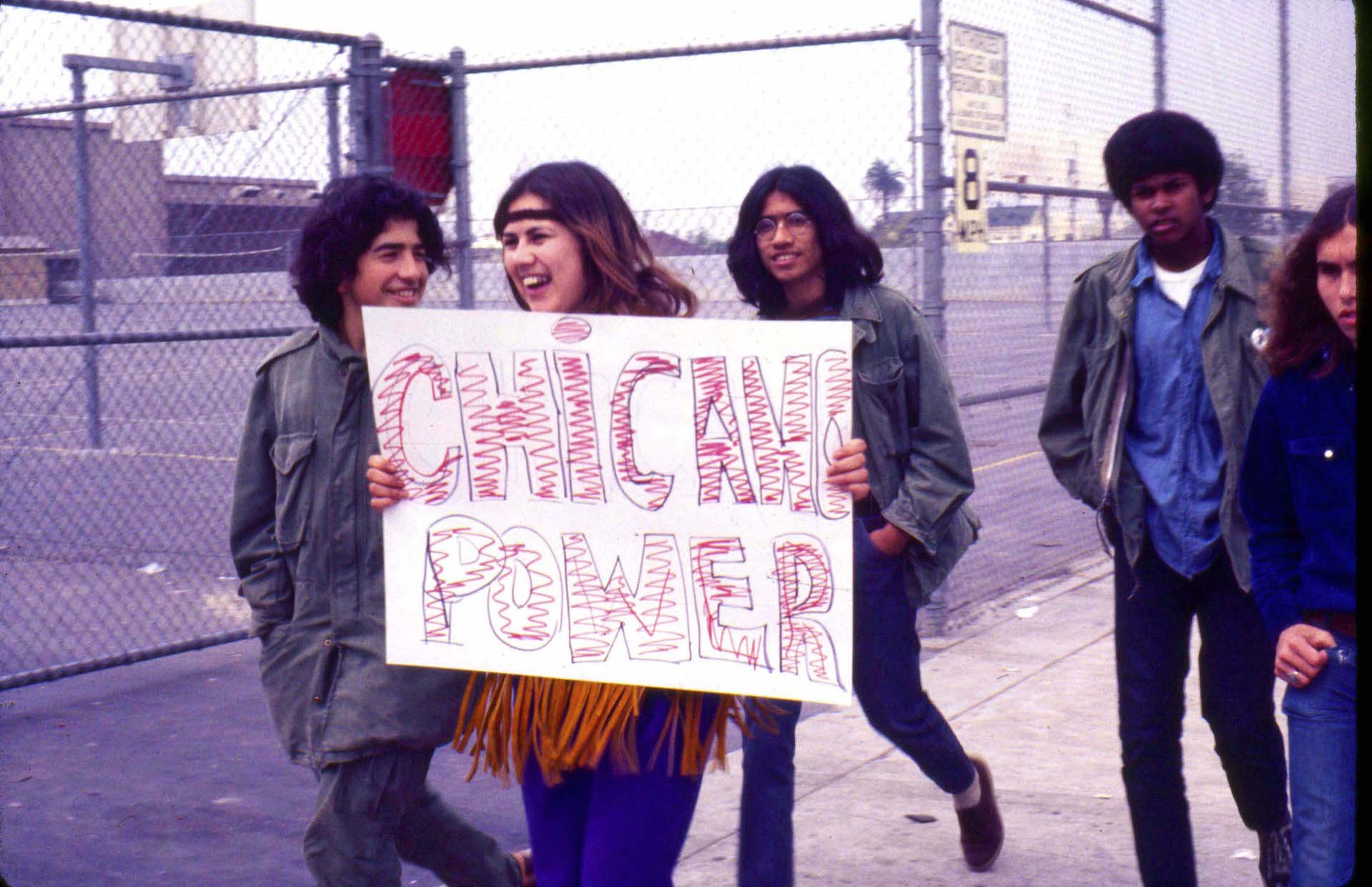 "Oscar Castillo, ""Chicano Power (Roosevelt High School Walkouts),"" 1970, color photograph. | Photo: Courtesy of the artist"