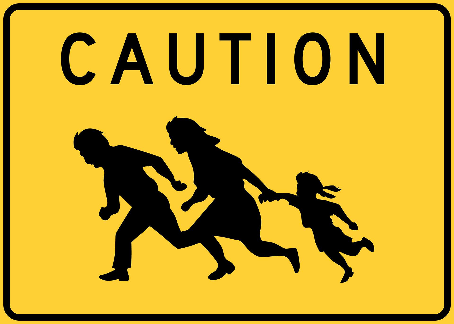 Caution: Immigrant Crossing