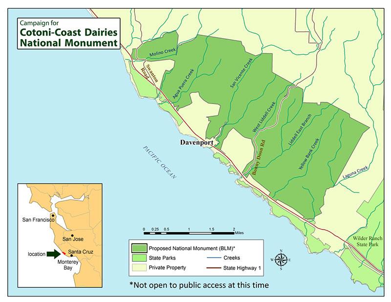 Cotoni Coast Dairies Map