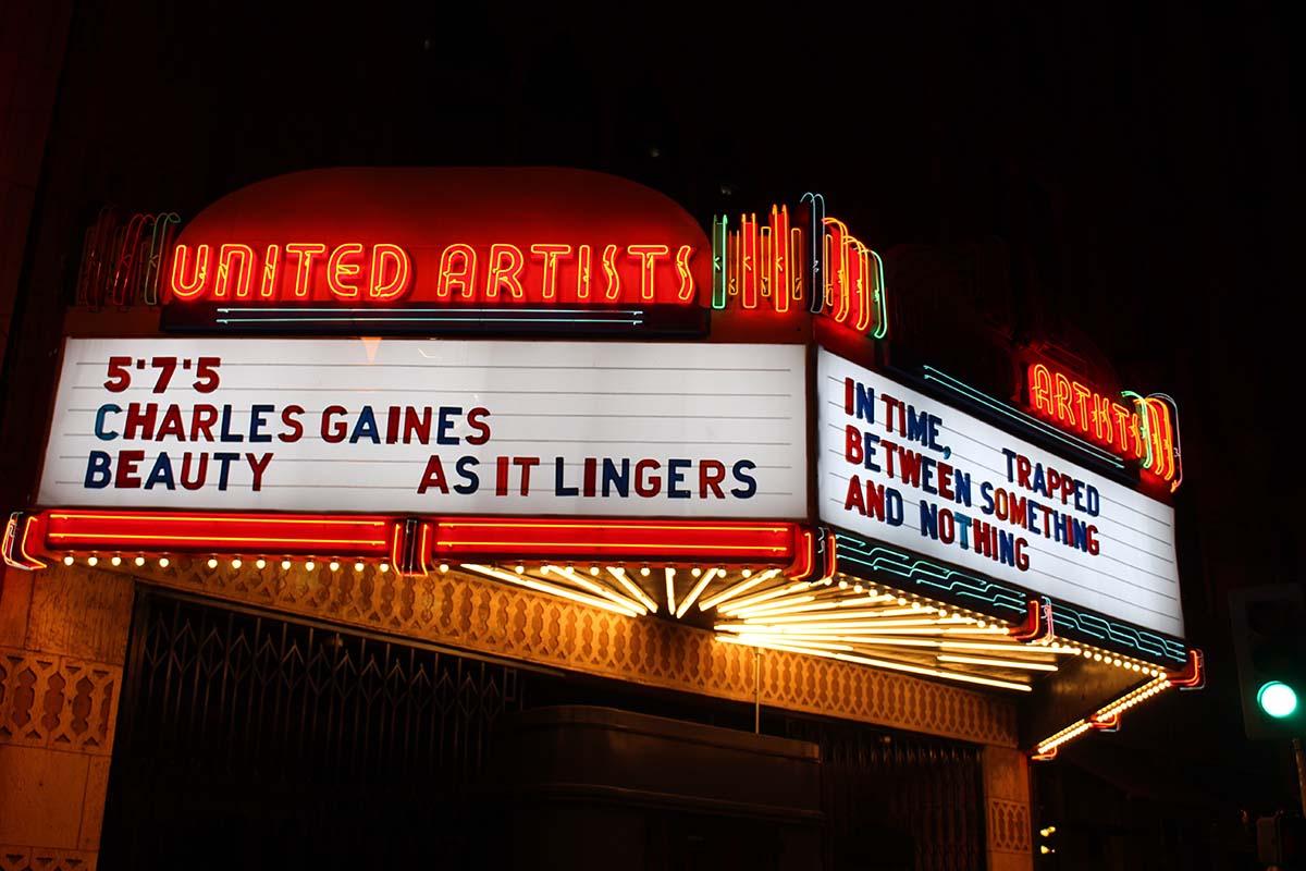 Charles Gaines' haiku at Ace Hotel   Courtesy of Ace Hotel DTLA