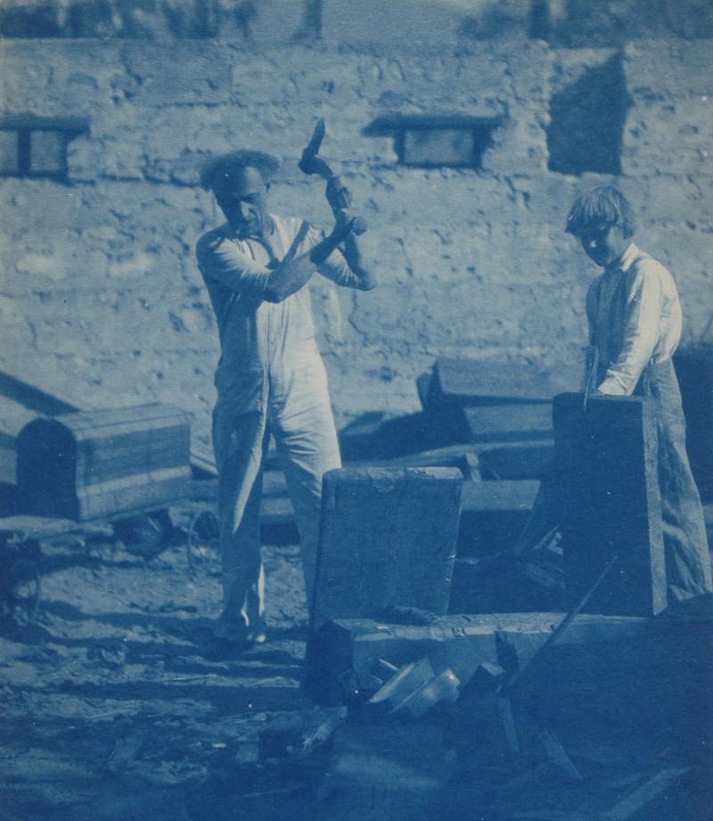 Charles Lummis at work on December 14, 1910