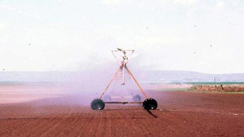 Applying metam sodium via irrigation water | Photo: Russ Ingham