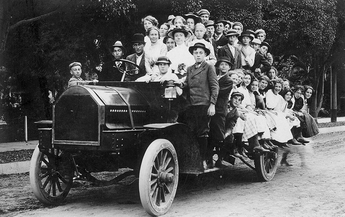 Children at Birch Park, Santa Ana, May 1910