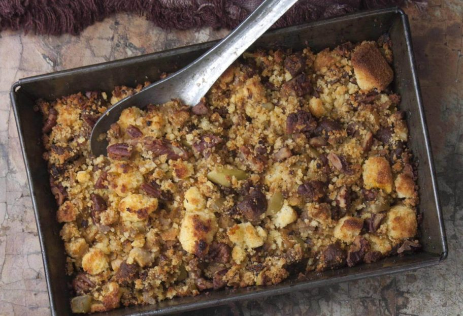 """Chorizo, Apple and Corn Bread Stuffing 