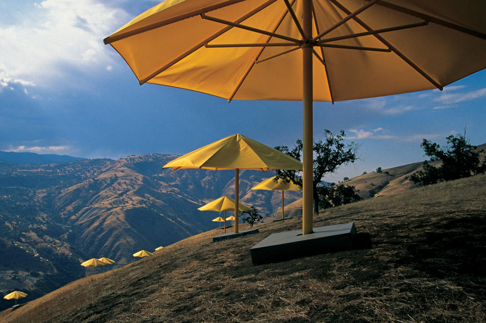 Christo and Jeanne-Claude The Umbrellas, Japan-USA, 1984-91 Yellow