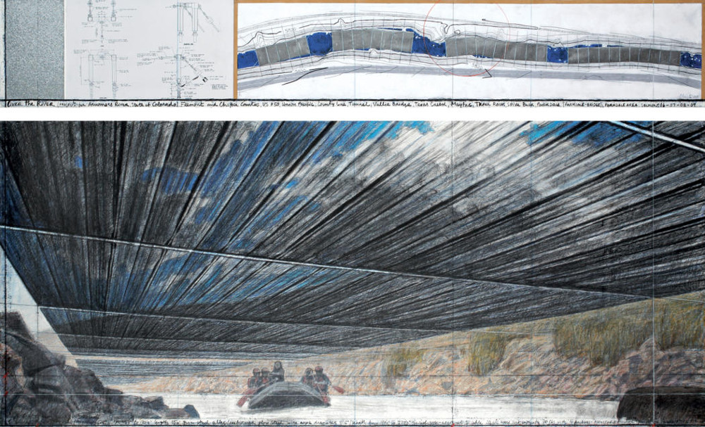 Christo, Over the River (Project for Arkansas River, State of Colorado)